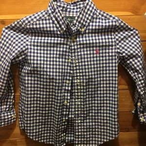 Ralph Lauren Long Sleeve Button Down (Boys sz 5)